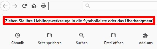 Werkzeug Firefox