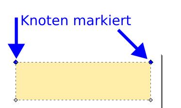 Inkscape Knoten gemeinsam markieren